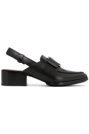Quinn Buckled Leather Slingback Loafers by 3.1 Phillip Lim