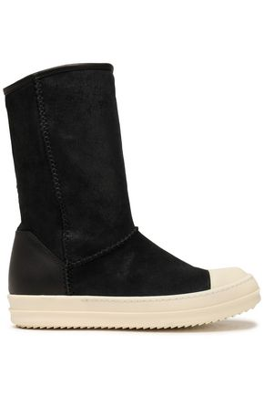 RICK OWENS Shearling sock boots