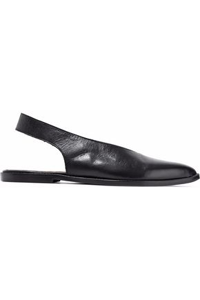 ATP ATELIER Leather slingback slippers