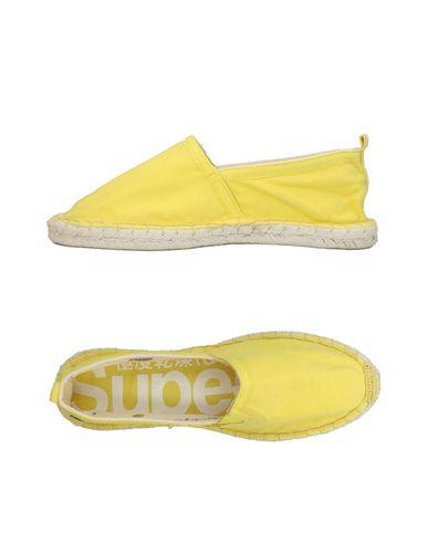 SUPERDRY Damen Espadrilles Gelb Größe 40 Gewebefasern
