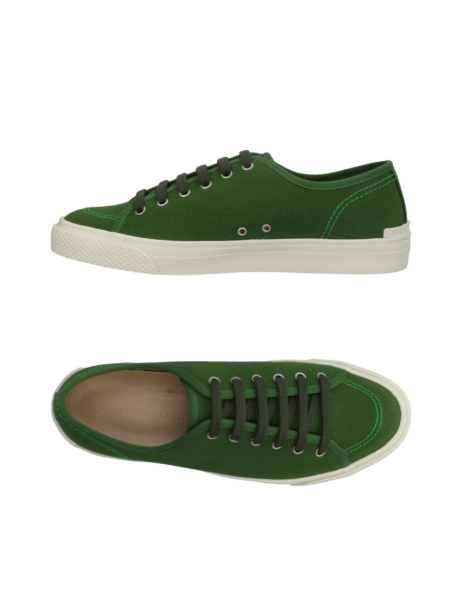 STELLA McCARTNEY MEN Sneakers. canvas, logo, solid color, laces, round toeline, flat, fabric inner, rubber sole. Textile fibers