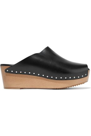 c3885b42835 RICK OWENS WOMAN LEATHER PLATFORM MULES BLACK ...