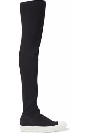 Stretch Denim Thigh Boots by Drkshdw By Rick Owens