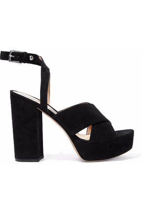 GIANVITO ROSSI Suzie suede platform sandals