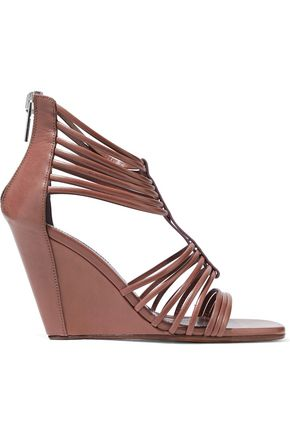 RICK OWENS Mignon leather wedge sandals