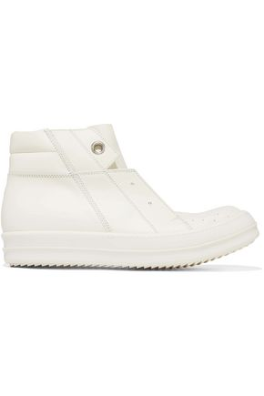 RICK OWENS Island Dunk perforated leather high-top sneakers