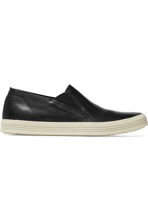 RICK OWENS Mastodon Deck leather slip-on sneakers
