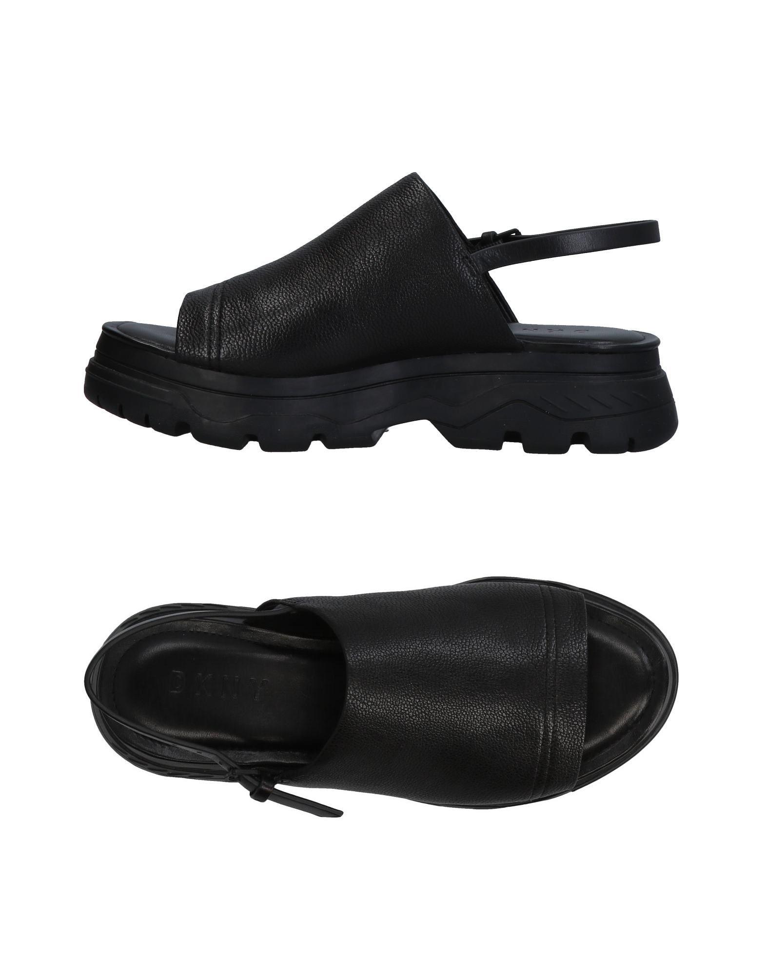 《送料無料》DKNY レディース サンダル ブラック 8 革