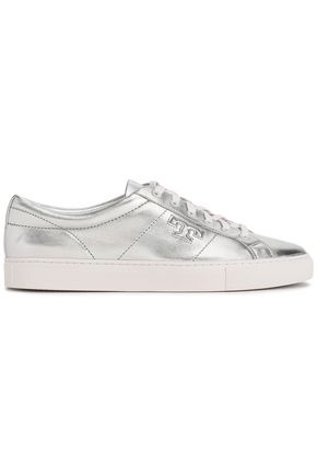 TORY BURCH Metallic leather sneakers