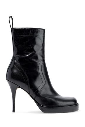 RICK OWENS Glossed-leather platform ankle boots