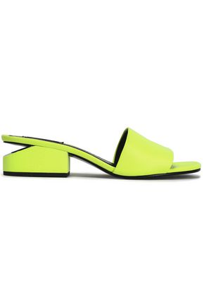 ALEXANDER WANG Neon leather mules