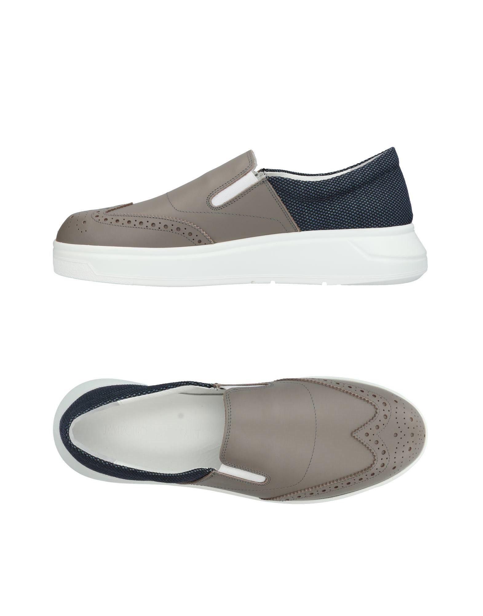 EMPORIO ARMANI メンズ スニーカー&テニスシューズ(ローカット) 鉛色 6 革 / 紡績繊維