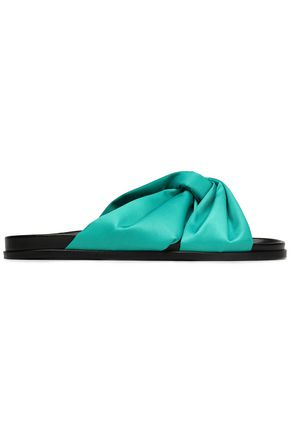 MAJE Knotted satin slides