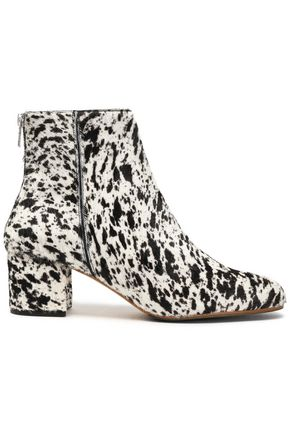 ATP ATELIER Printed calf hair ankle boots