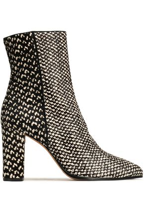 ALEXANDRE BIRMAN Printed calf hair ankle boots
