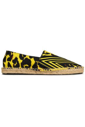 MAJE Embroidered printed canvas espadrilles