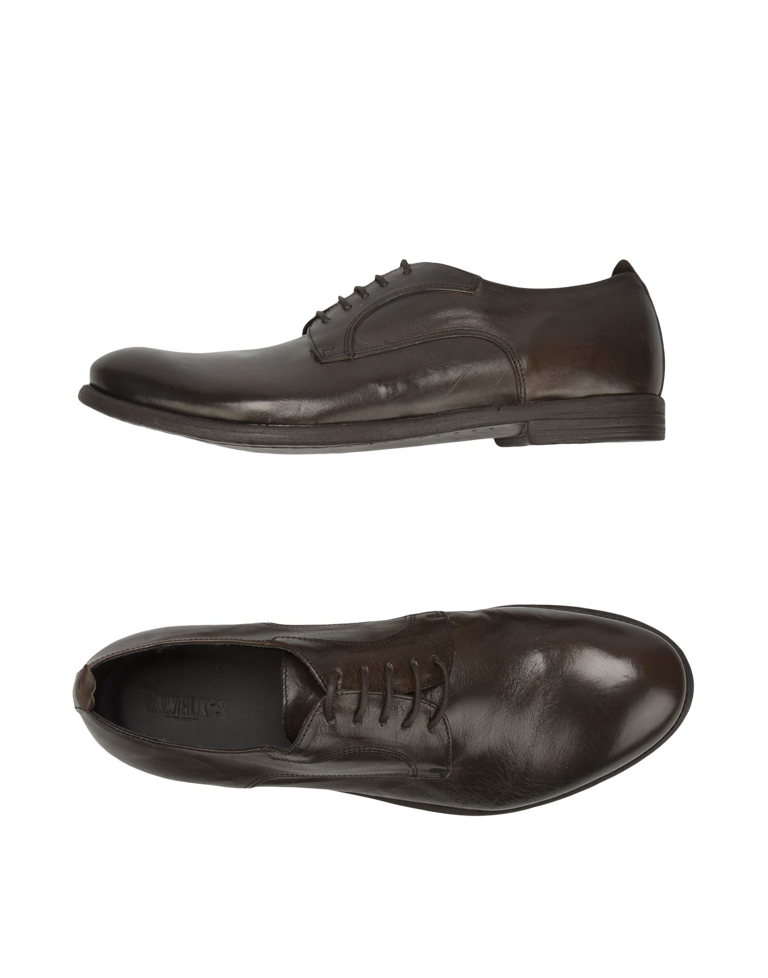 PAWELK'S Laced Shoes in Cocoa
