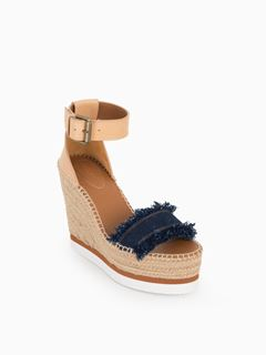 Glyn fringed wedge espadrille