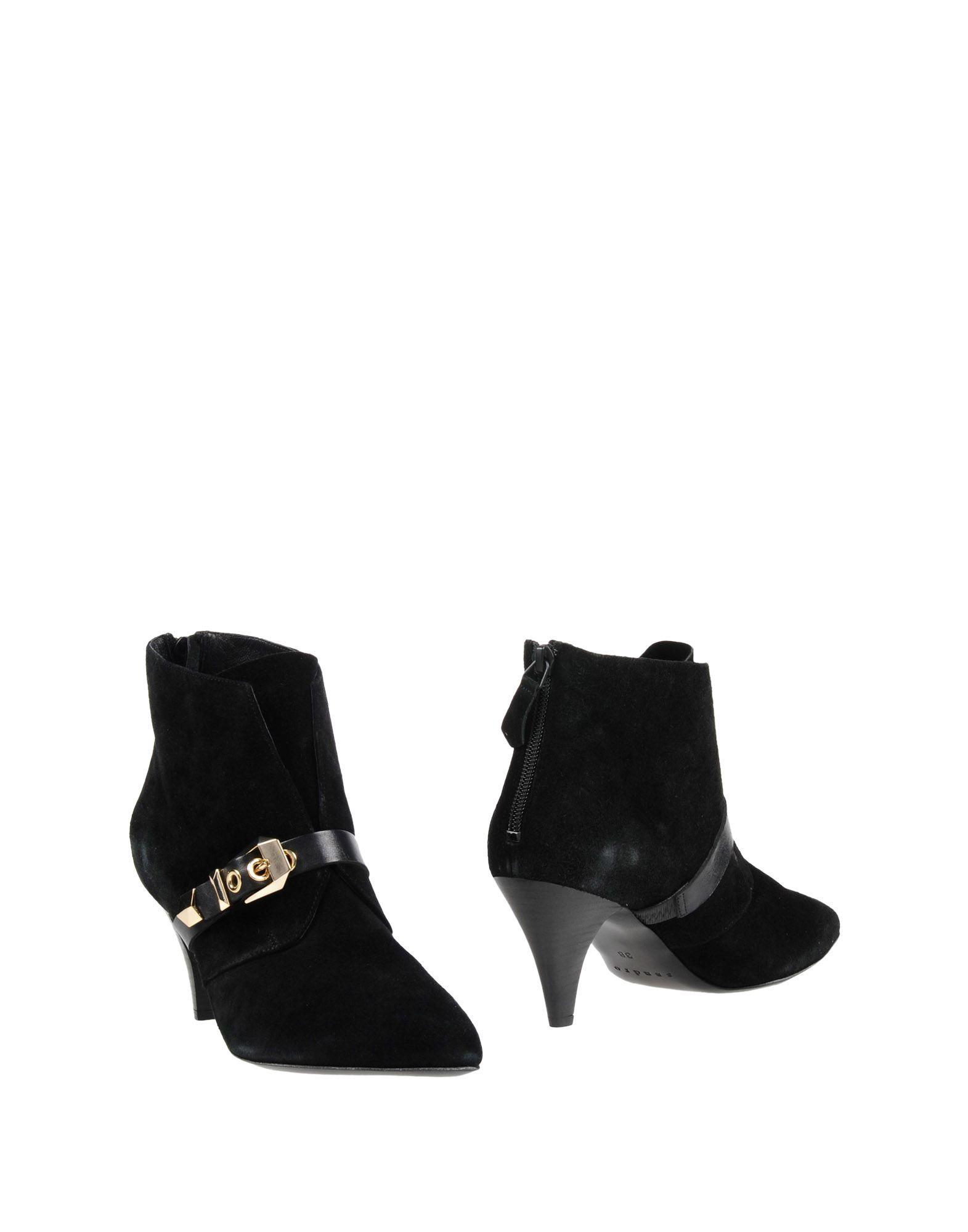 SANDRO PARIS Ankle Boot in Black