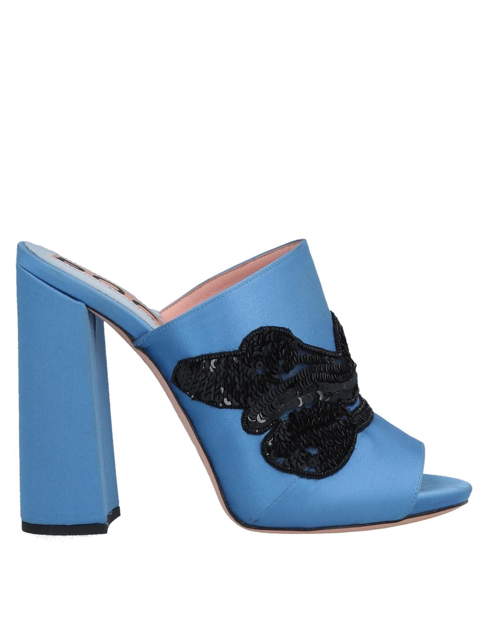 《送料無料》ROCHAS レディース サンダル ブライトブルー 36.5 紡績繊維