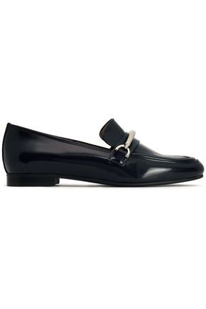 CLAUDIE PIERLOT Embellished leather loafers