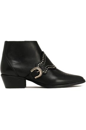 CLAUDIE PIERLOT Studded leather ankle boots