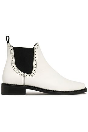 CLAUDIE PIERLOT Perforated leather ankle boots