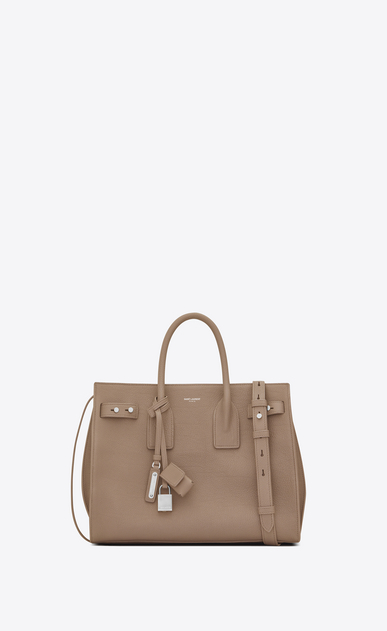 SAINT LAURENT Sac De Jour Supple Woman small sac de jour souple bag in sand grained leather a_V4