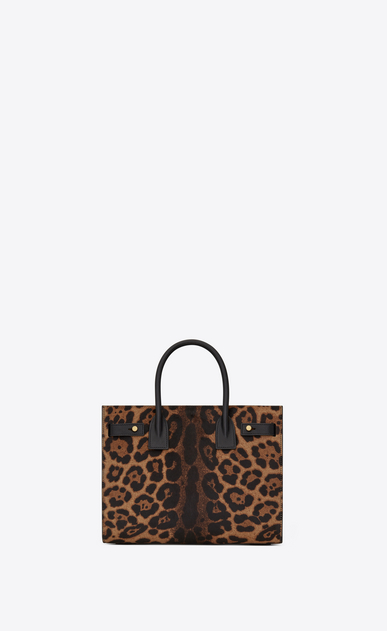 SAINT LAURENT Sac De Jour Supple Woman Baby SOFT SAC DU JOUR in calfskin with brown and black leopard print b_V4