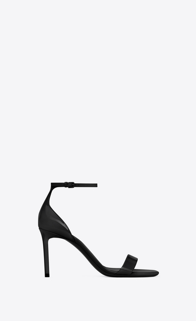 SAINT LAURENT Amber Woman AMBER 85 sandal in black patent leather a_V4