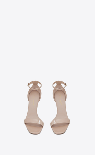 SAINT LAURENT Amber Woman amber 85 sandals in beige rosé patent leather b_V4