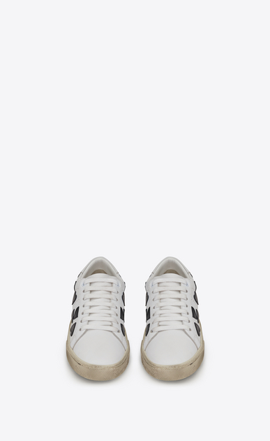 SAINT LAURENT Sneakers Woman court classic sl/01 lolita sneaker in white leather with heart-shaped patches b_V4