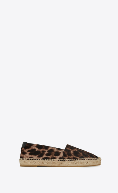 SAINT LAURENT Espadrille Woman Espadrilles in calfskin with brown and black leopard print a_V4
