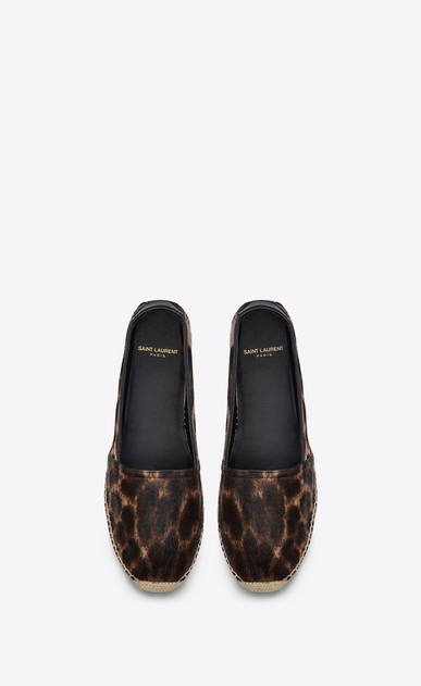 SAINT LAURENT Espadrille Woman Espadrilles in calfskin with brown and black leopard print b_V4