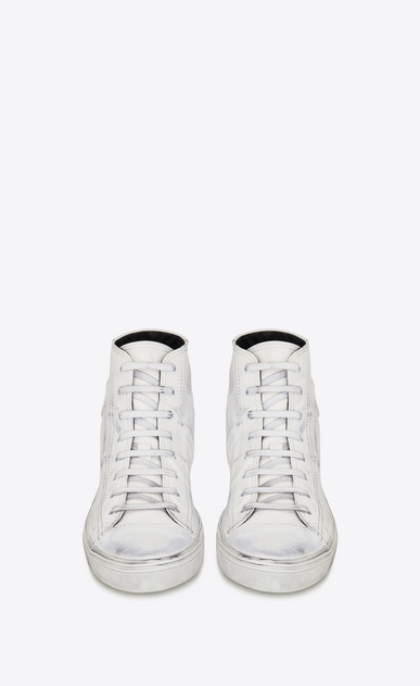 SAINT LAURENT Bedford Man BEDFORD mid-top sneakers in white used leather b_V4