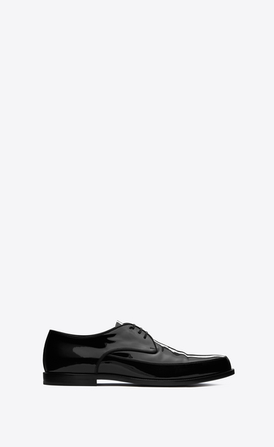 SAINT LAURENT Classic Shoes Man CHARLES 15 derbies in black patent leather a_V4