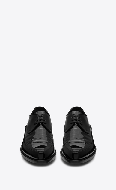SAINT LAURENT Classic Shoes Man CHARLES 15 derbies in black patent leather b_V4