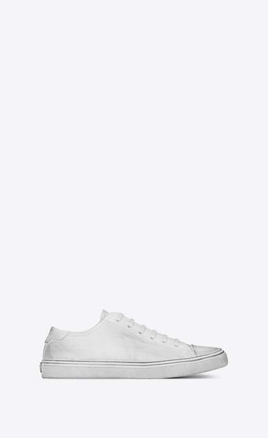 SAINT LAURENT Bedford Man bedford sneakers in white leather a_V4
