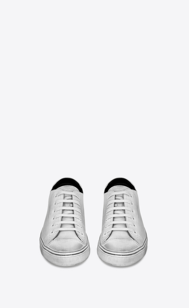 SAINT LAURENT Bedford Man bedford sneakers in white leather b_V4