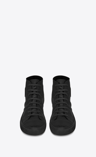 SAINT LAURENT Bedford Man BEDFORD mid-top sneakers in black leather b_V4