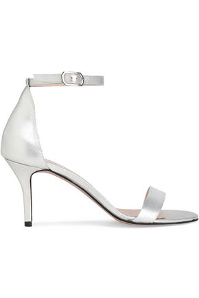 IRIS & INK Petra metallic leather sandals