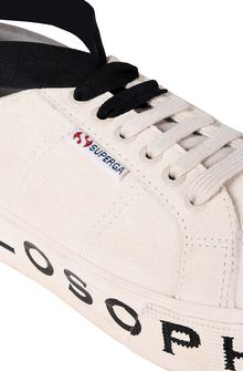 PHILOSOPHY di LORENZO SERAFINI Superga ivory platform SUPERGA FOR PHILOSOPHY D e