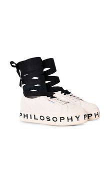 PHILOSOPHY di LORENZO SERAFINI Superga ivory platform SUPERGA FOR PHILOSOPHY Woman f
