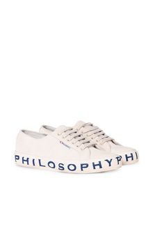 PHILOSOPHY di LORENZO SERAFINI SUPERGA FOR PHILOSOPHY D Superga in purple with four-leaved-clover laces f
