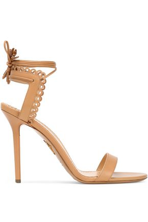 CHARLOTTE OLYMPIA Picot-trimmed leather sandals