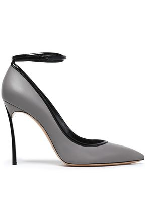 CASADEI Smooth and patent-leather pumps