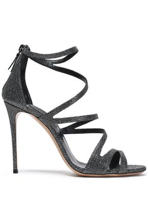 CASADEI Metallic woven sandals