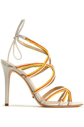 SCHUTZ Beaded leather sandals