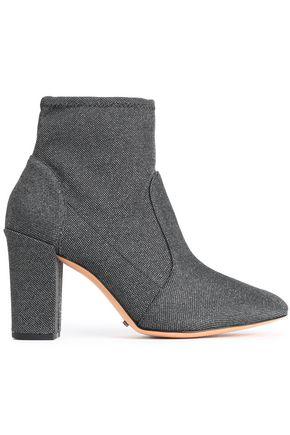 SCHUTZ Metallic woven ankle boots