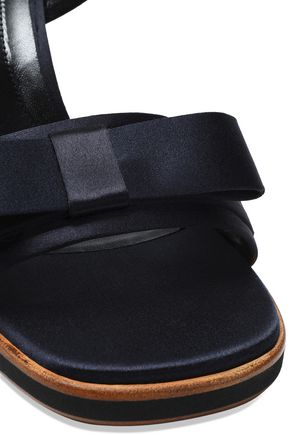 MARNI Bow-embellished satin sandals